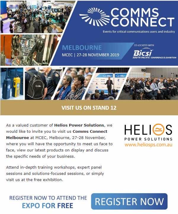 Comms Connect 2019 - Helios Power Solutions