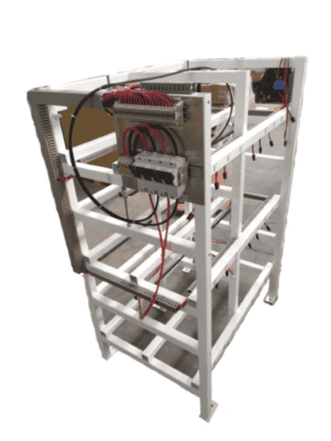 BR154 Battery Rack 3 tier for 18XNSB210FT HT RED 210AH Front Terminal High temperature battery