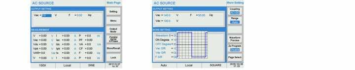 Graphical User Interface AC Programmable Power Supply